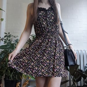 Mossimo Supply Co Floral Razor Back Dress